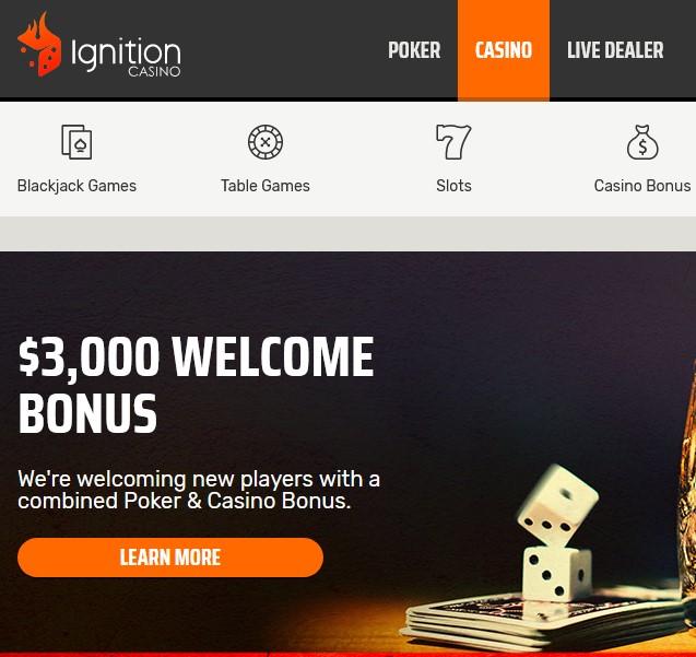 Ignition Casino Bonus $3,000